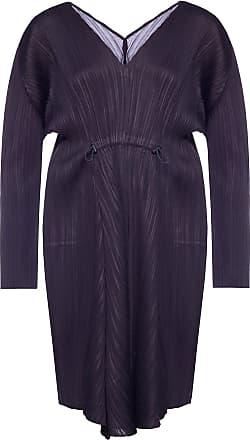 Issey Miyake Pleated Dress Womens Navy Blue