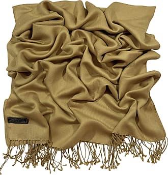 CJ Apparel Gold Solid Colour Design Nepalese Shawl Scarf Wrap Stole Throw Pashmina CJ Apparel NEW