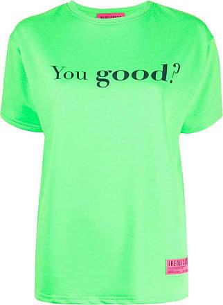Ireneisgood Camiseta com estampa de slogan - Verde