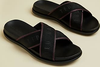 Ted Baker Crossover Branded Sliders in Black MABLAR, Mens Accessories