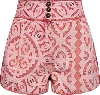 Ulla Johnson Martiza Patterned Shorts Womens Pink