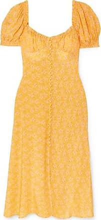 647f1c5601bf Rixo Tammy Ruffled Floral-print Silk-georgette Dress - Yellow