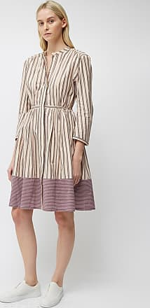 French Connection Cotton Mix Stripe Long Sleeve Dress