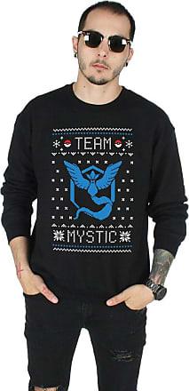 Sanfran Clothing Sanfran - Team Mystic Christmas Ugly Xmas Pokemon Go Valor Jumper Sweater - Large/Black