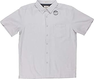 Quiksilver Waterman Mens Centinela 4 Button Down Shirt, Drizzle, S