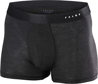 Falke Boxer SilkWool Intimo lana merinos Uomo | nero/blu