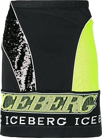 Iceberg sequin embroidered skirt - Black