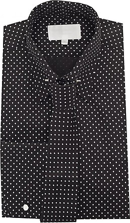 Ikrush William Hunt Pindot Shirt With Tie BLACK 20HALF
