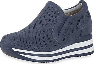 Scarpe Vita Women Sneaker Wedges Cut-Outs Platform Front 190359 Blue UK 5.5 EU 39