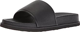 59c89996d646 Calvin Klein Mens MACKEE Tumbled Brushed SMTH Slide Sandal Black 9 M M US