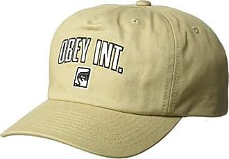 Obey Mens International Strapback HAT, Khaki, ONE Size