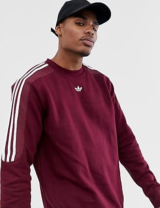 167db557 adidas Originals sweatshirt with trefoil logo print 3 stripes in burgundy  FH6883 - Red