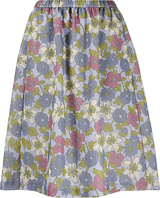 Ymc You Must Create floral print skirt - PURPLE