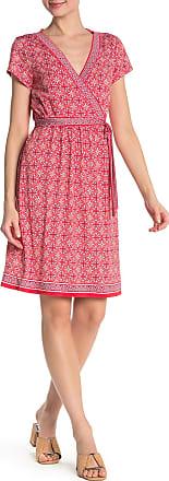 Max Studio Patterned Faux Wrap Dress