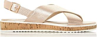 Dune London Dune Ladies Womens Lorde XX Cross-Strap Flat Sandals Size UK 5 Rose Gold Flat Heel Flat Sandals