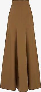 Three Graces London Aria Skirt in Tan
