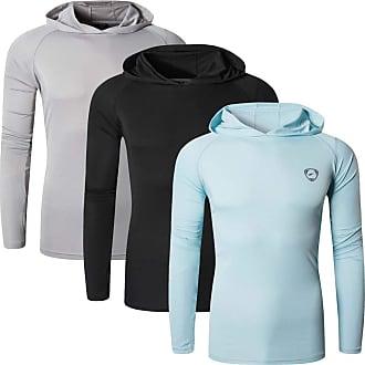 Jeansian Mens 3Pack UPF 50+ Sun Protection Hoodie Long Sleeve Performance Hiking Running Fishing T-Shirt Tee Shirt Tshirt LA271_PackE_XXL