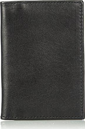 Florsheim Mens Folding Card Holder, black, M