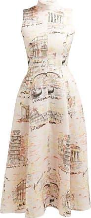 Emilia Wickstead Sheila Italy-print Midi Dress - Womens - Pink Print