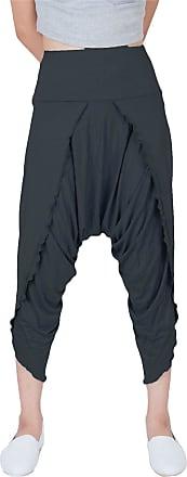 Lofbaz Womens Harem Yoga Palazzo Pants Hybrid Spendex Pants Dark Grey Size S