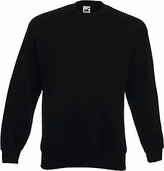 Fruit Of The Loom Mens Premium Drop Shoulder Sweatshirt Black