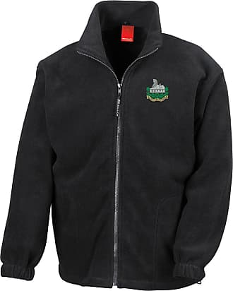 Military Online The Gloucestershire Regiment Embroidered Logo - British Army Infantry - Official - Full Zip Heavyweight Fleece Jacket Black