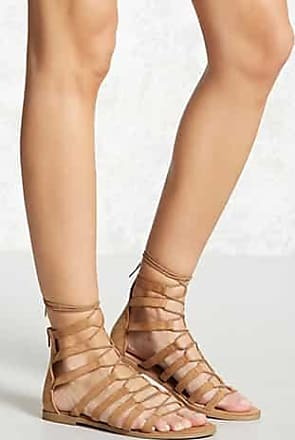 Forever 21 Forever 21 Faux Suede Gladiator Sandals Tan