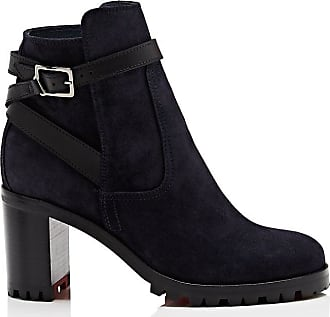 dd9cd361155 Christian Louboutin Womens Trapeurdekoi Suede Ankle Boots - Navy Size 12