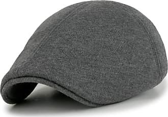 Ililily Soft Cotton Newsboy Flat Cap Pre-Curved Ivy Stretch-fit Driver Hunting Hat (flatcap-506-5)