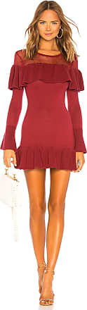 Tularosa Alexa Ruffle Sweater Dress in Burgundy