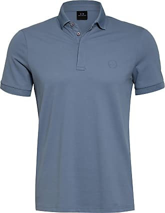 A|X Armani Exchange Piqué-Poloshirt - HELLBLAU