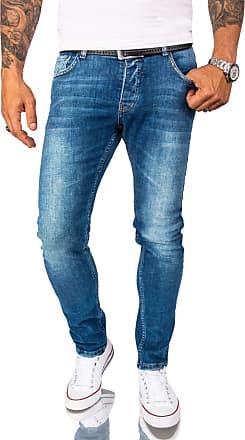 Rock Creek Designer Mens Jeans Trousers Stretch Jeans Basic Slim Fit W29-W40 M21 - Blue - W32
