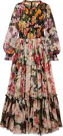 Dolce   Gabbana Robe Du Soir En Mousseline De Soie À Imprimé Fleuri - Noir eabd3ee66c8b