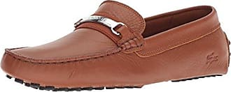 Lacoste Mens ANSTED Driving Style Loafer, tan/Black, 8.5 Medium US