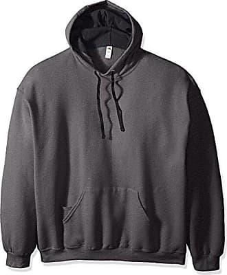 Fruit Of The Loom Mens Hooded Sweatshirt,Charcoal Heather,XX-Large