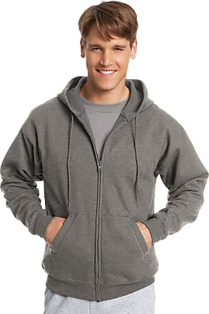 Hanes ComfortBlend EcoSmart Mens Full Zip Hoodie, XL, Charcoal Heather