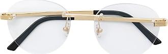 Cartier Armação de óculos arredondada banhada a ouro - Dourado
