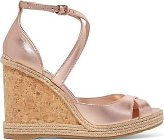 d2f5a1dba9 Jimmy Choo London Alanah 105 Espadrille-wedges Aus Metallic-leder - Altrosa