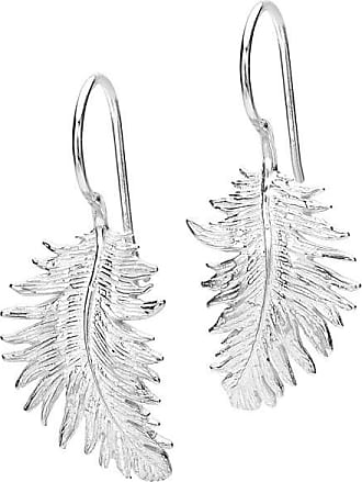 Dower & Hall Feather Drop Earrings