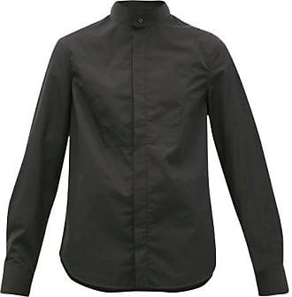 Wardrobe.NYC Wardrobe.nyc - Release 05 Band-collar Cotton-poplin Shirt - Womens - Black