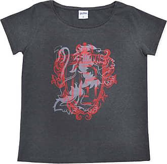 Harry Potter Womens Teenage Girls T-Shirt Top Cotton (Grey, X-Small)