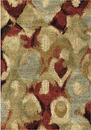 Orian Rugs Wild Weave Misty Rouge Area Rug, 53 x 76, Red