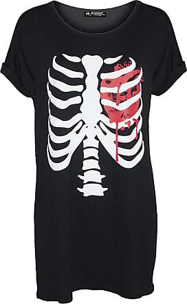 Be Jealous Womens Halloween Bleeding Heart T Shirt Dress Black Plus Size (US 12/14)