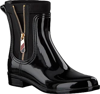 d9bf5554d143 Tommy Hilfiger Schwarze Tommy Hilfiger Stiefeletten MATERIAL MIX RAIN BOOT
