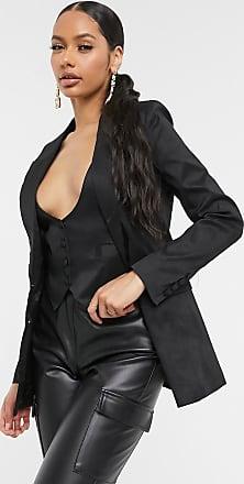 Unique21 Unique21 single breasted taffeta blazer in black