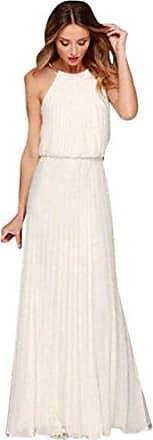 5a7c95dcaa206c TWIFER Damen Ärmellos Chiffon Kleid Sommer Abschlussball Partykleid  MaxiKleid
