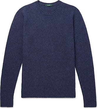 Incotex Brushed Virgin Wool Sweater - Blue