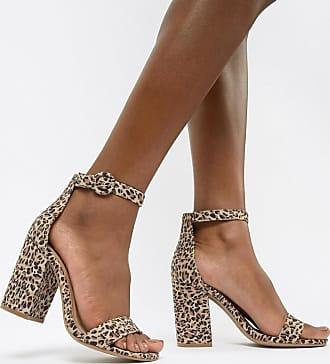 Qupid Qupid Leopard Block Heel Sandals - Multi