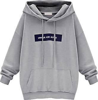 Isshe Long Pullover Hoodies for Women Womens Hooded Sweatshirt Jumper Womens Sweatshirts for Women Hoodie Printed Loose Casual Oversized Sweatshirts Sweat T
