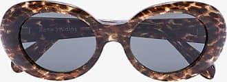 Acne Studios Womens Brown Mustang Leopard Print Sunglasses